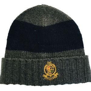 Ralph Lauren Men's Cuffed Beanie Wool Blend Hat